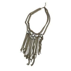 4/$25 • Chain Fringe Layered  Choker Necklace